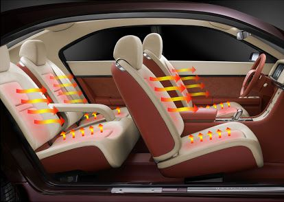 Utilization of laser system for customized requirements of heated car seats