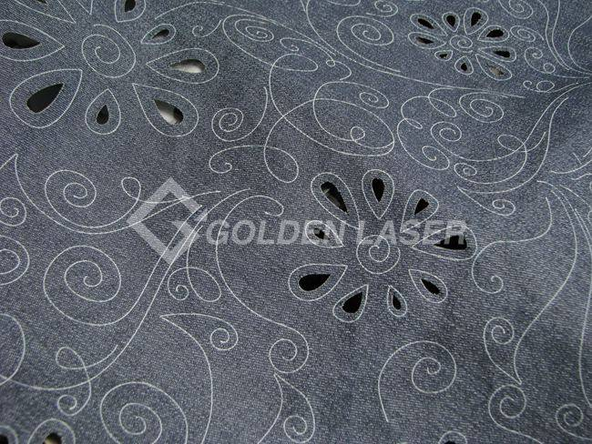 laser cutting and marking on fabric
