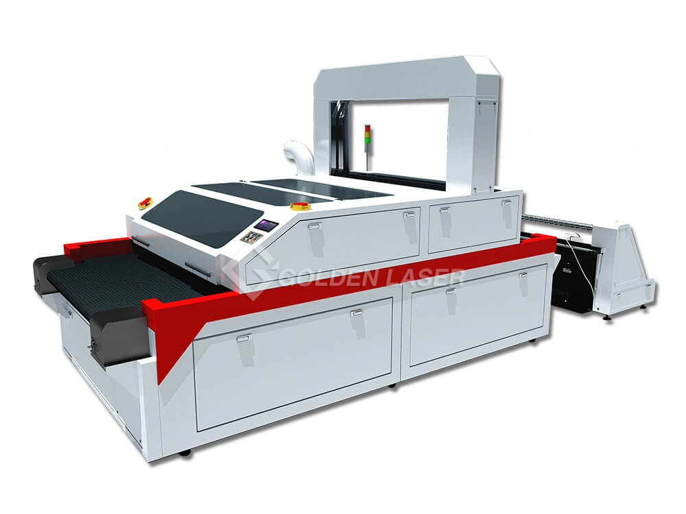 vision laser cutter for sublimation fabric